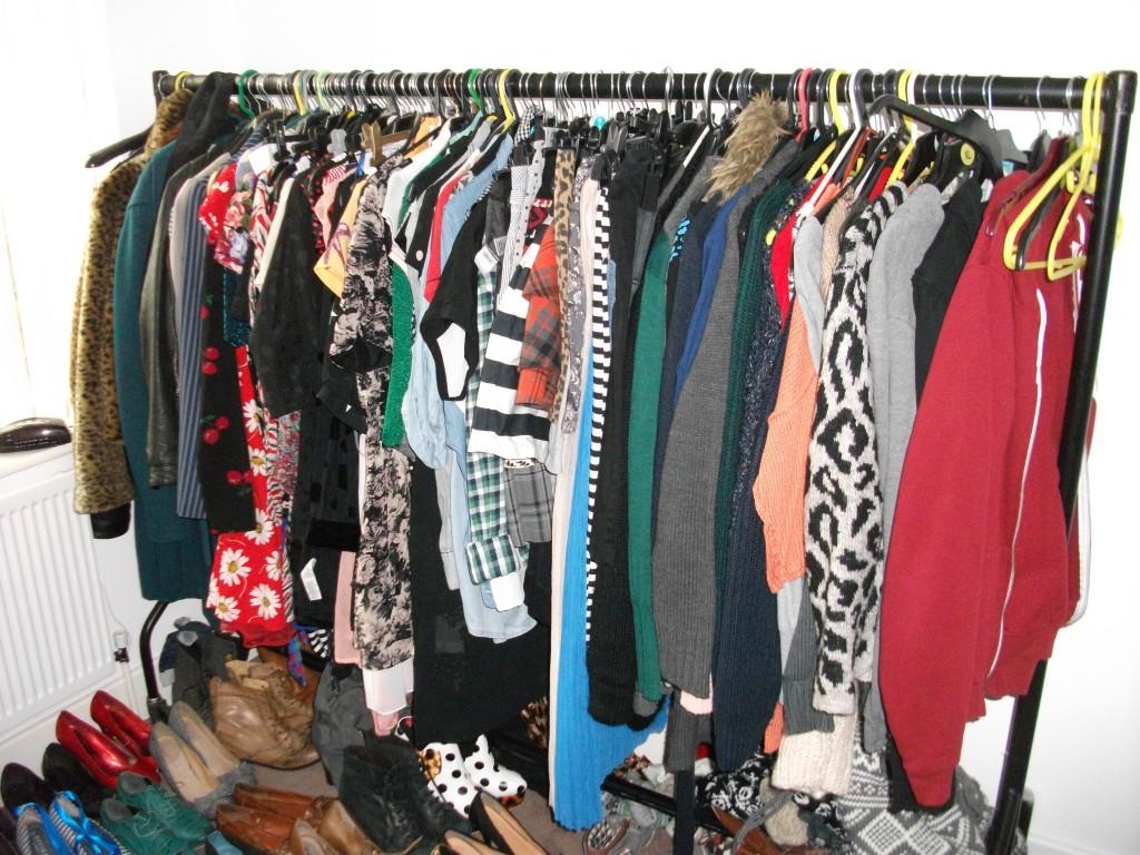 My messy wardrobe
