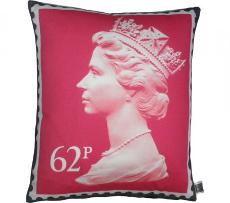 Classic Cotton Sateen Printed Stamp Cushion