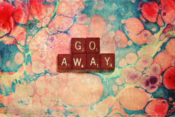 Go Away Print By Sylvia Cook Photography