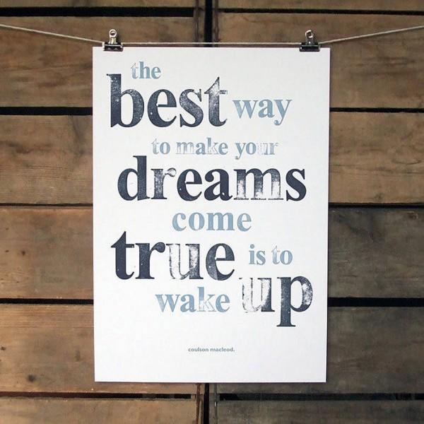 A3 Dreams Print. £15.