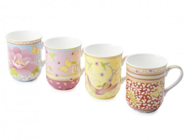 Enchante Set of 4 China Mugs. £24.99