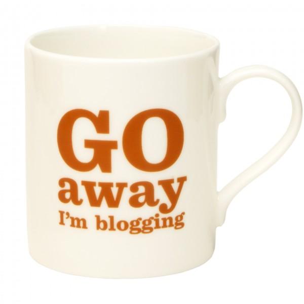 Go Away I'm Blogging Mug. £9.95