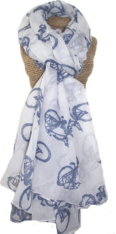 White Bicycle Scarf. £13.50