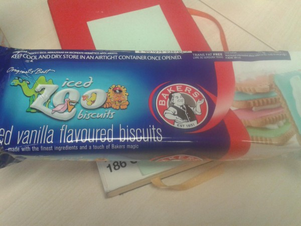 Iced zoo biscuits