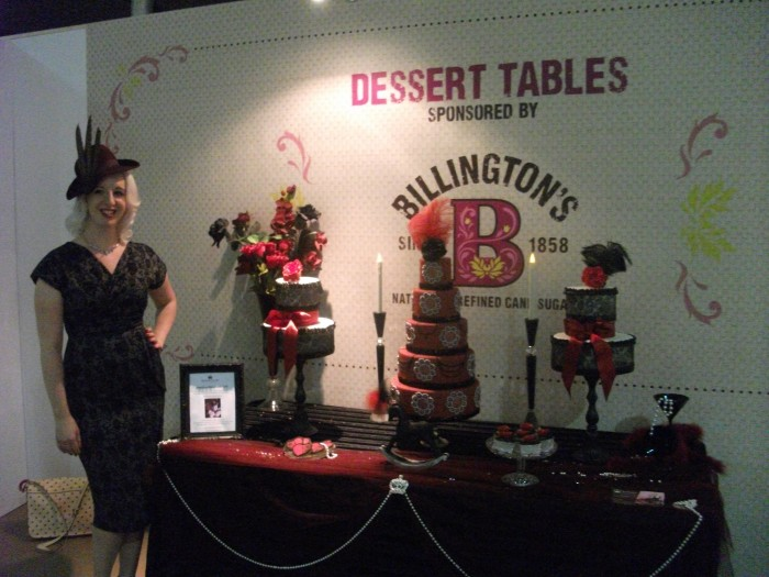 Charlotte White and her Restoration Cake Table