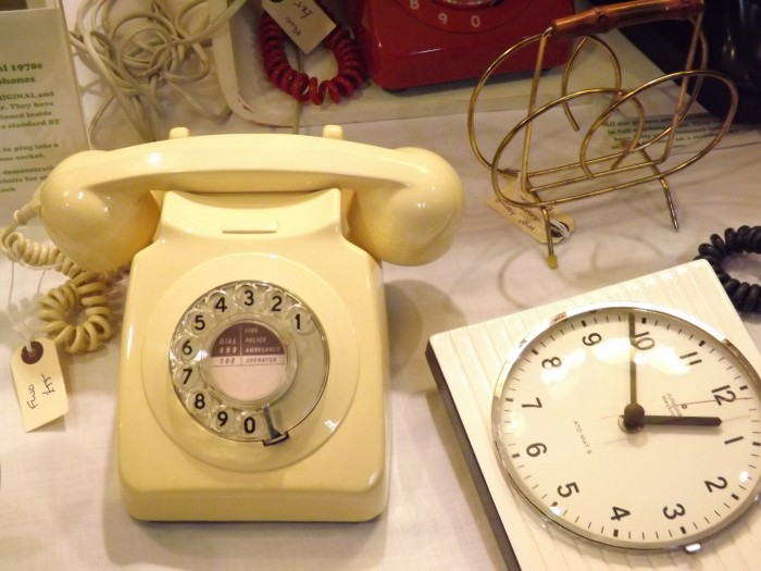 Vintage furniture - telephone and clock