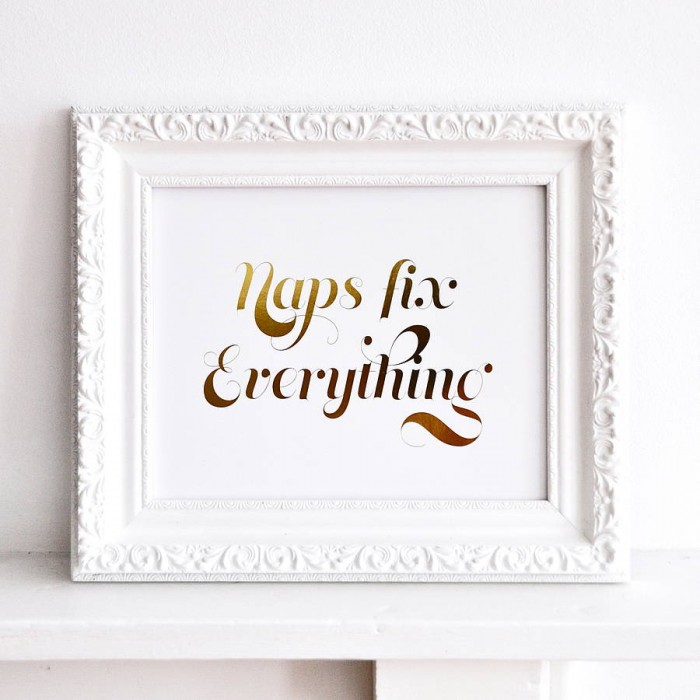 National Nap Day - Naps Fix Everything Print