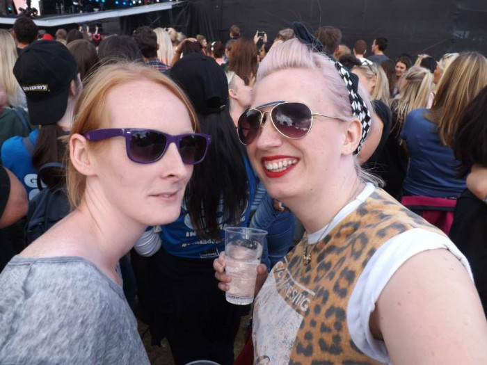 Laura and Steph at McBusted