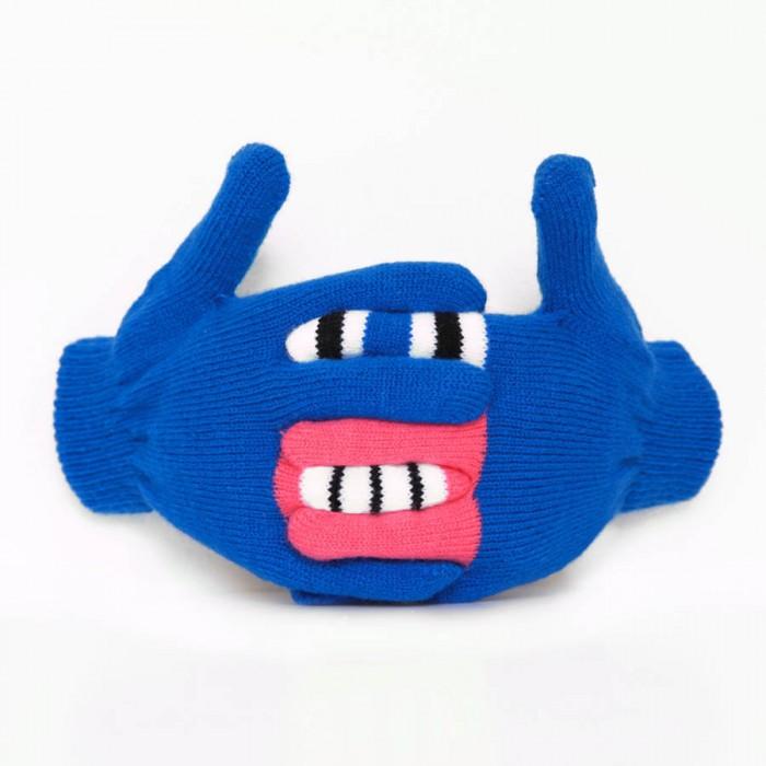 Blue monster warmster gloves