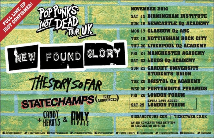 pop punks not dead e1417855419455 Live Review: New Found Glory   The Forum   28th November 2014