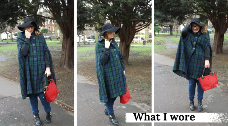What I wore - vintage cape