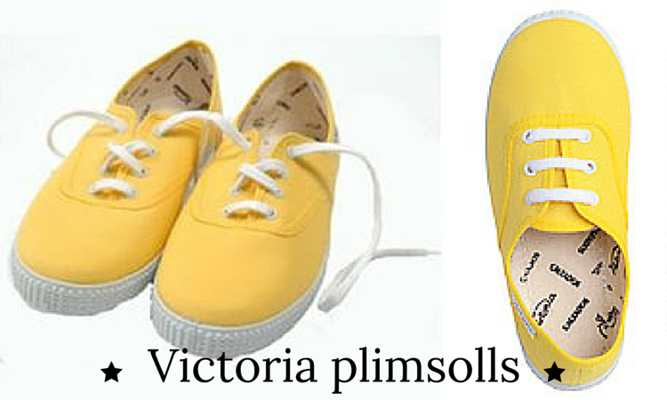 Victoria yellow canvas shoes