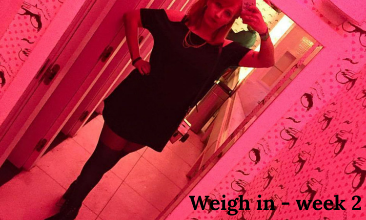 Weight loss diary week 2