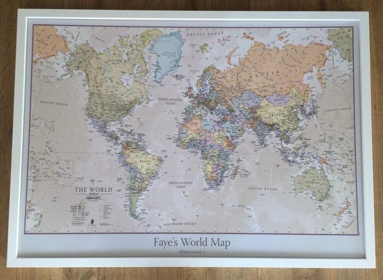 Travel present personalised world map