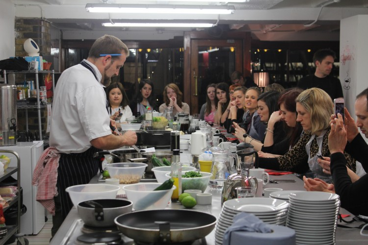 Healthy eating cookery class