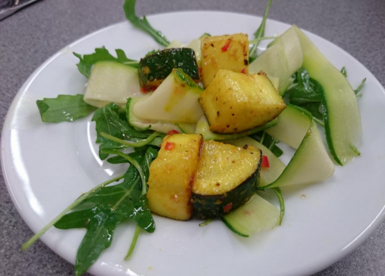 Healthy eating asian courgettes