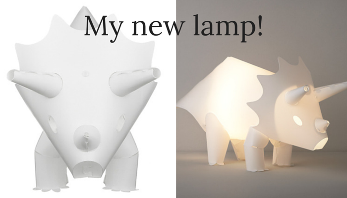 home sweet home - my new lamp