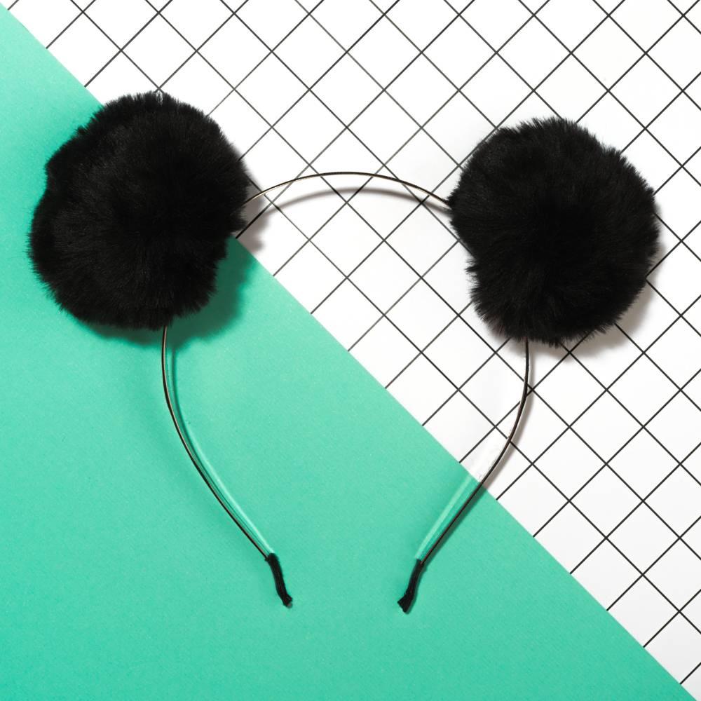 Furry Pompom Headbands