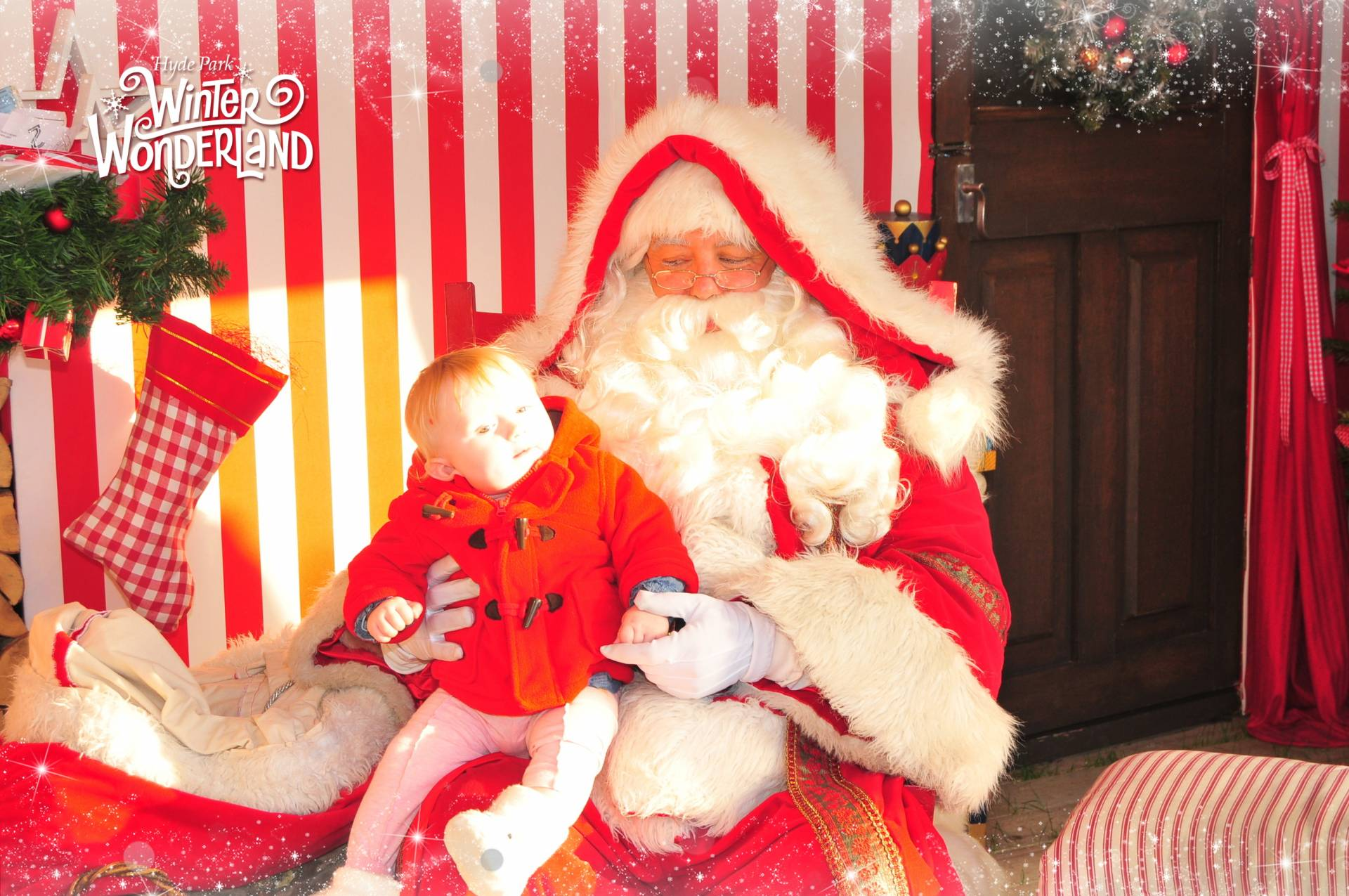 cece with santa at winter wonderland