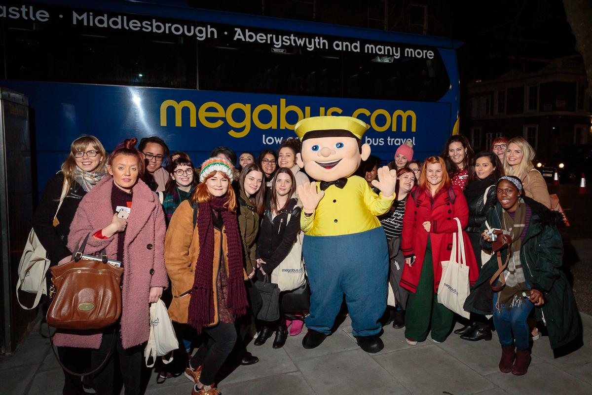 Sid the megabus mascot