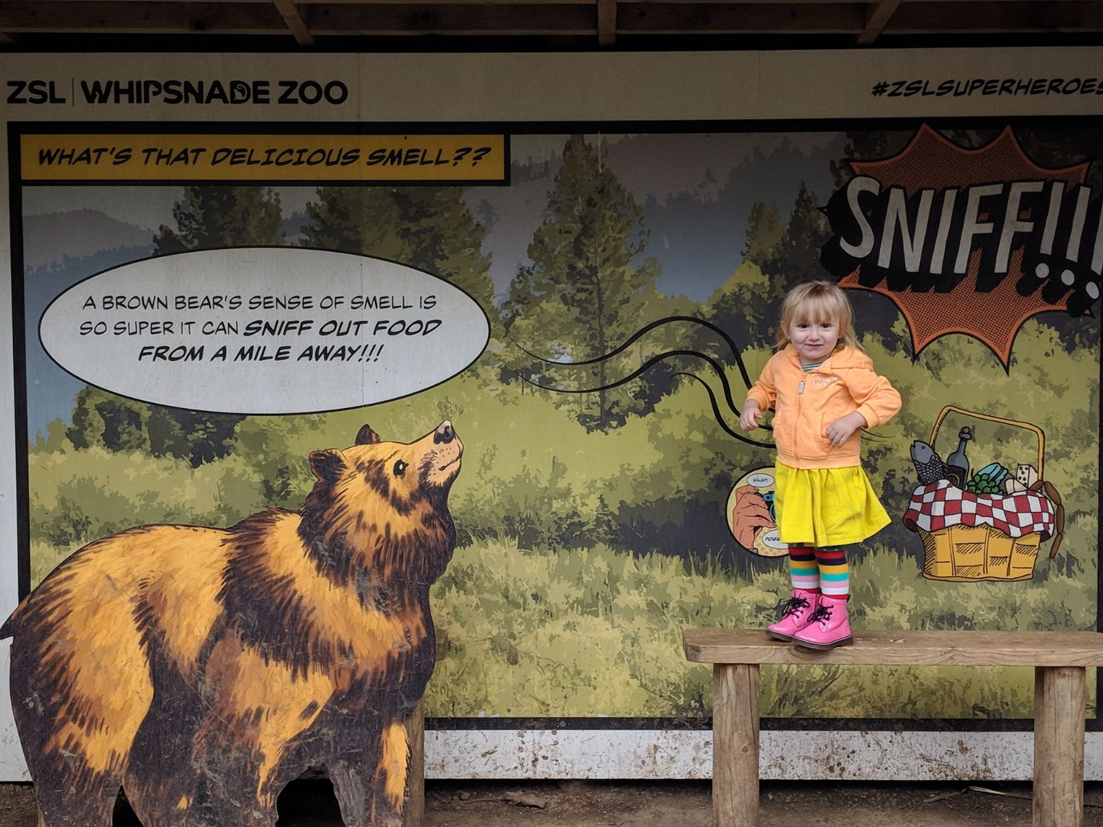 Cece at the zoo