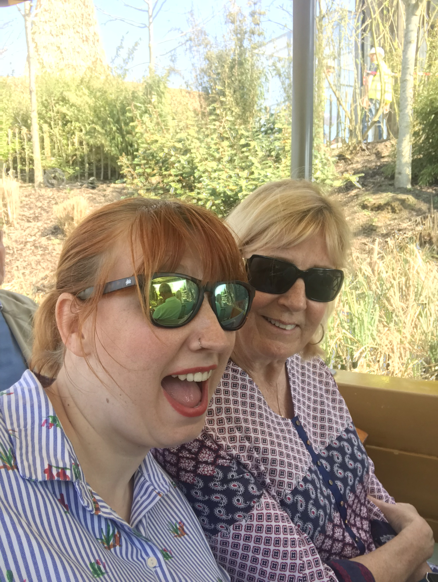 me and mum at the zoo