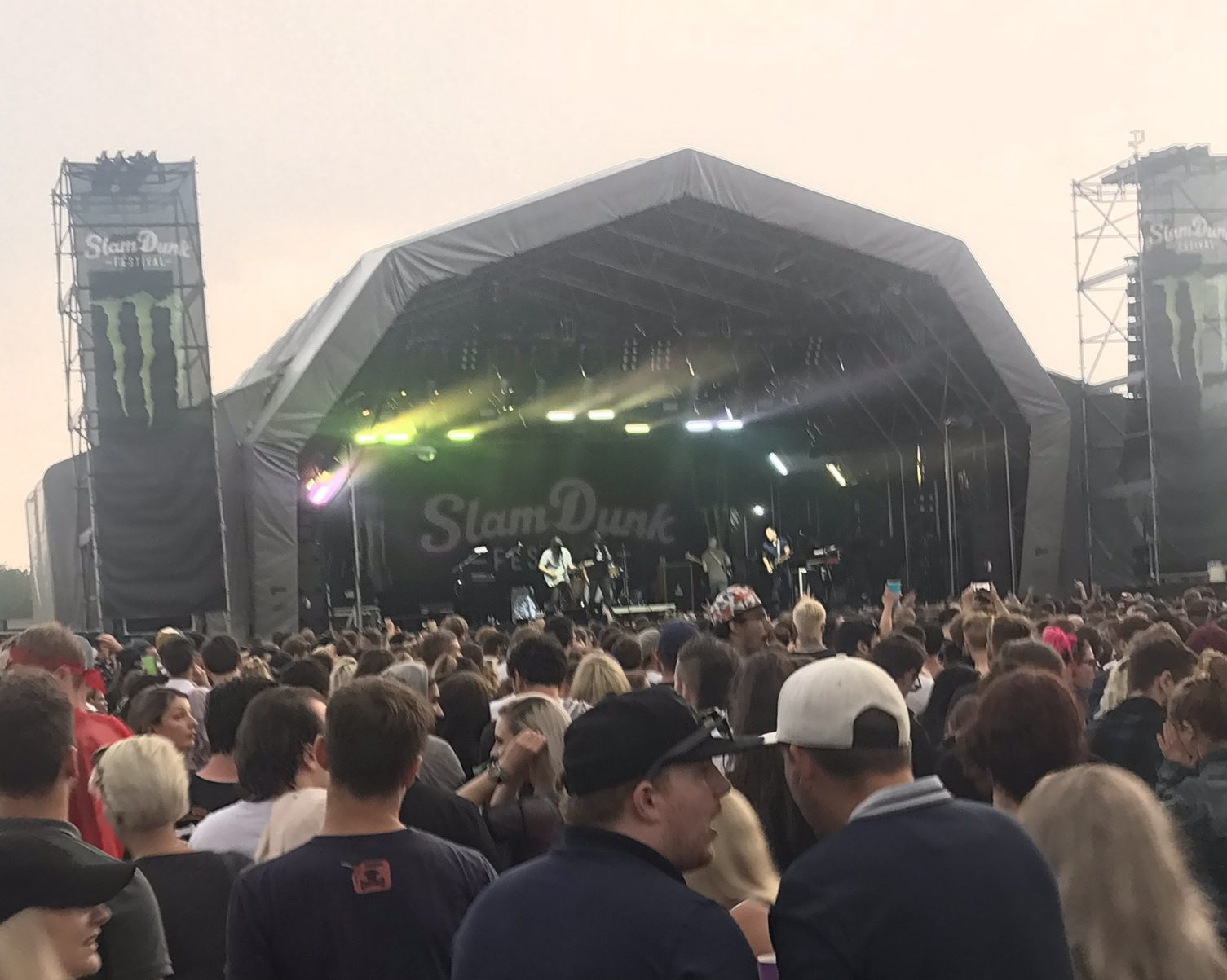 Monster energy stage at slam dunk 2018