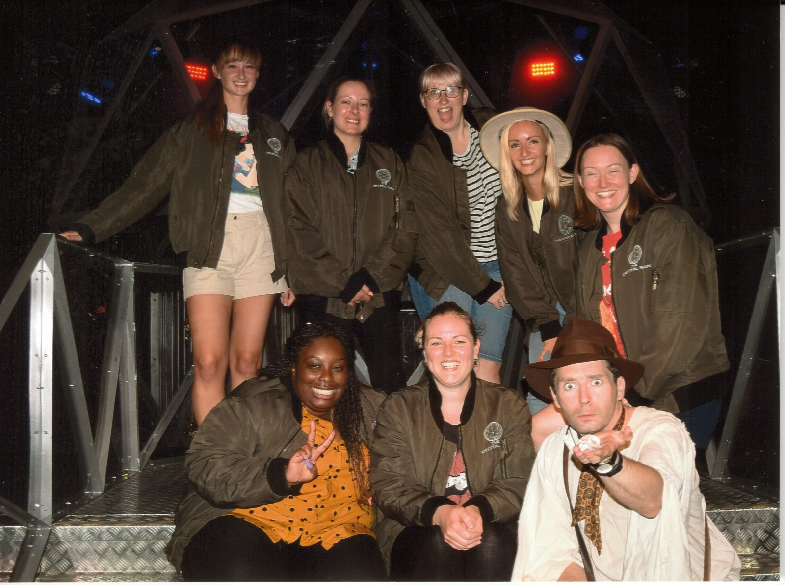 Girls Team At THe Crystal Maze