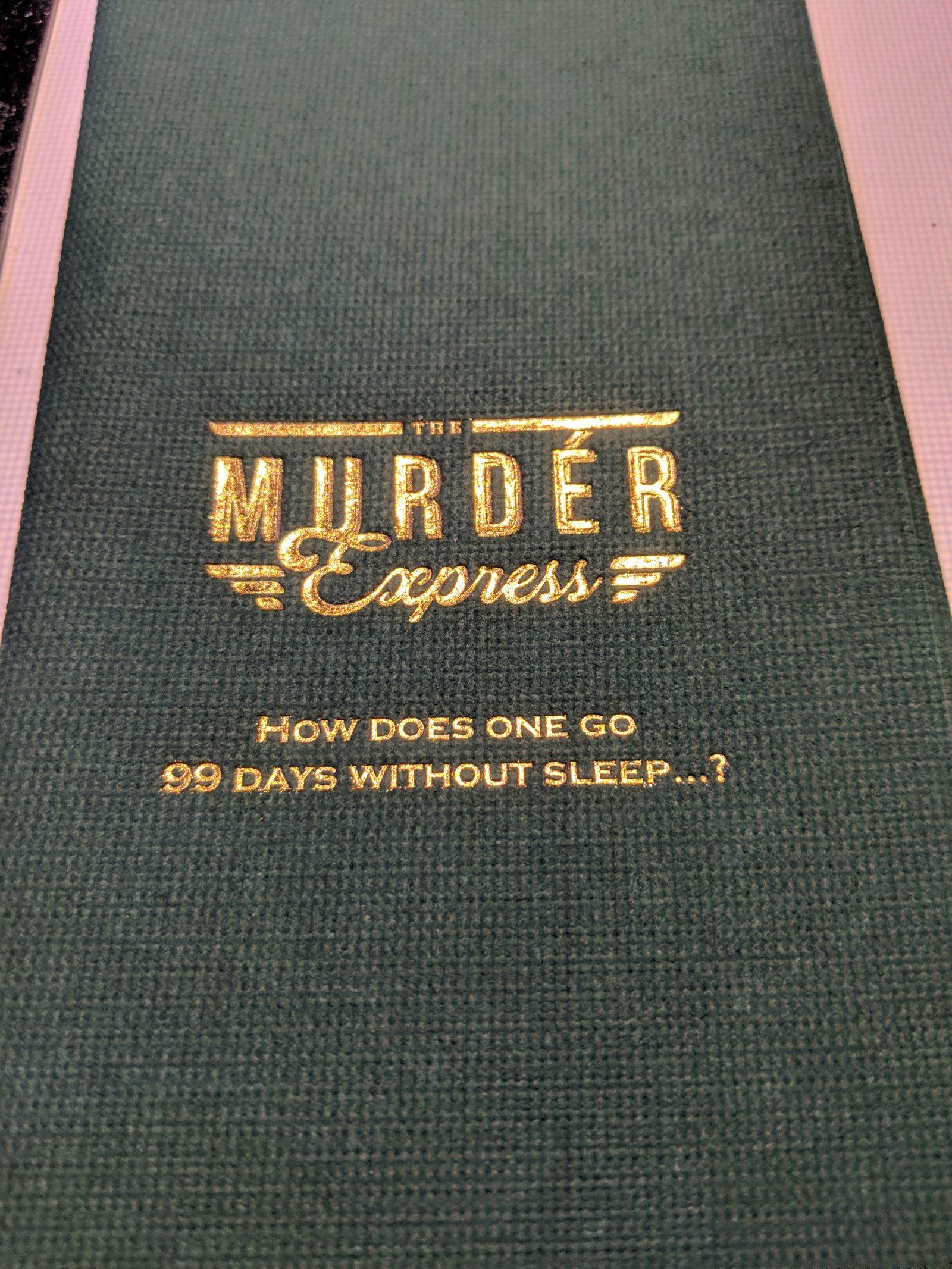 The Murder Express - napkin